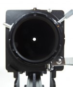 The size of the marked f/11 aperture with 6 inch of extension as seen by the sensor.